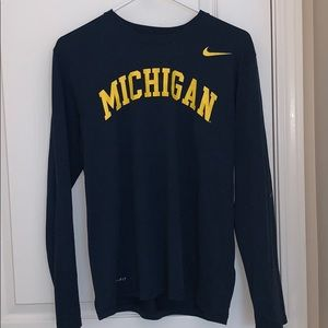 Nike Dri-Fit Michigan Long Sleeve T-shirt